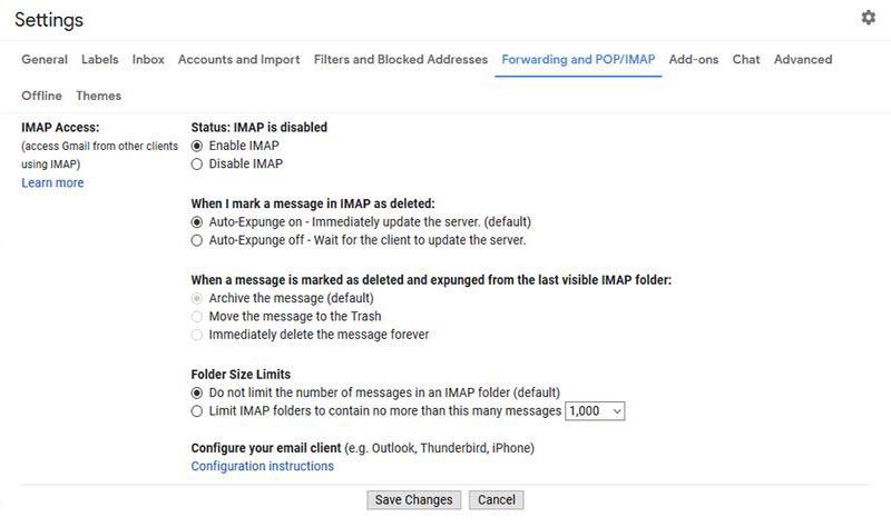سایر تنظیمات Gmail