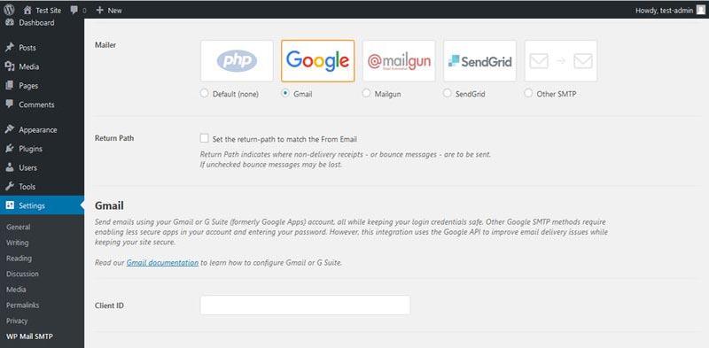 2.ارسال ایمیل از سایت وردپرس