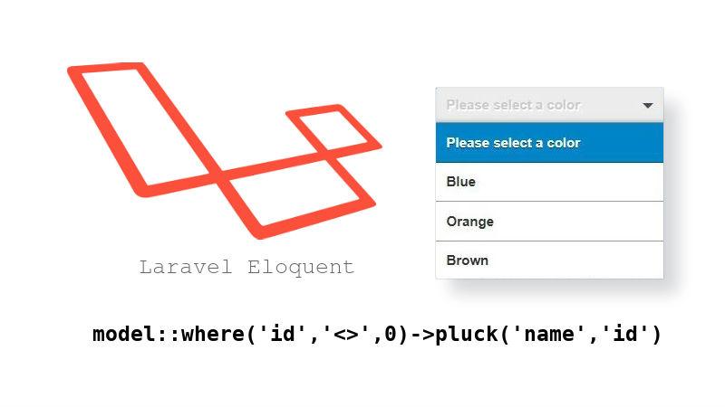 ایجاد لیست کشویی (select) با استفاده از eloquent